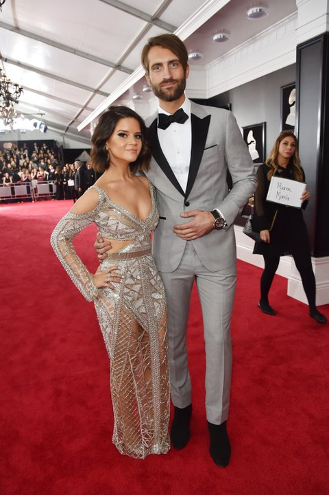 NEW YORK, NY - JANUARY 28:  Recording artists Maren Morris (L) and Ryan Hurd attend the 60th Annual GRAMMY Awards at Madison Square Garden on January 28, 2018 in New York City.  (Photo by Kevin Mazur/Getty Images for NARAS)