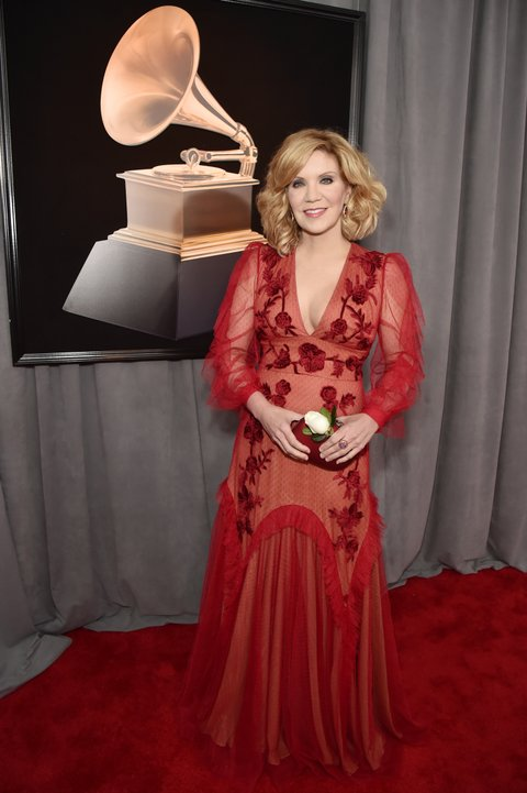 NEW YORK, NY - JANUARY 28:  Recording artist Alison Krauss  attends the 60th Annual GRAMMY Awards at Madison Square Garden on January 28, 2018 in New York City.  (Photo by Kevin Mazur/Getty Images for NARAS)