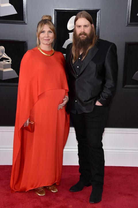 NEW YORK, NY - JANUARY 28:  Recording artists Morgane Stapleton and Chris Stapleton attend the 60th Annual GRAMMY Awards at Madison Square Garden on January 28, 2018 in New York City.  (Photo by John Shearer/Getty Images)
