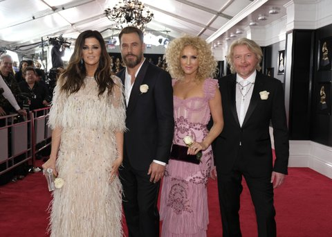NEW YORK - JANUARY 28: Little Big Town on the red carpet at THE 60TH ANNUAL GRAMMY AWARDS broadcast live on both coasts from New York City's Madison Square Garden on Sunday, Jan. 28, 2018, at a new time, 7:30-11:00 PM, live ET/4:30-8:00 PM, live PT, on the CBS Television Network. (Photo by Timothy Kuratek/CBS via Getty Images)