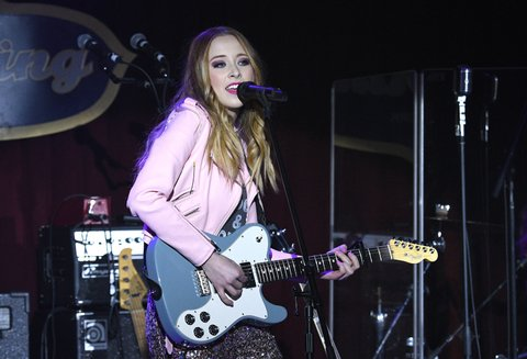 NEW YORK, NY - FEBRUARY 12:  Recordin artist Kalie Shorr performs during CMT Next Women of Country at B.B. King Blues Club & Grill on February 12, 2018 in New York City.  (Photo by Gary Gershoff/Getty Images)
