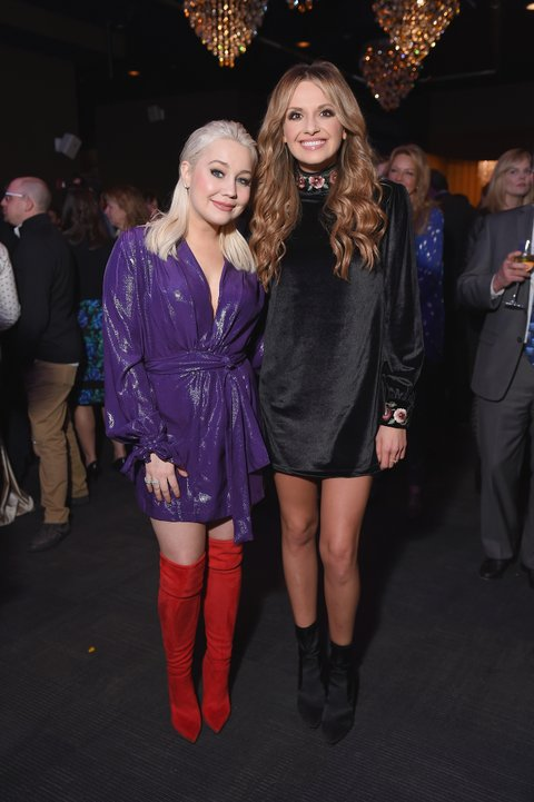 NEW YORK, NY - FEBRUARY 12: Musician and CMT Next Women of Country RaeLynn Davis and musician Carly Pearce attend the Country Music Hall of Fame and Museum's 'All for the Hall' Benefit on February 13, 2018 in New York City.  (Photo by Michael Loccisano/Getty Images for Country Music Hall Of Fame)