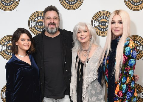 NEW YORK, NY - FEBRUARY 12:  Musicians Maren Morris, Vince Gill, Emmylou Harris and Kesha attend the Country Music Hall of Fame and Museum's 'All for the Hall' Benefit on February 13, 2018 in New York City.  (Photo by Michael Loccisano/Getty Images for Country Music Hall Of Fame)