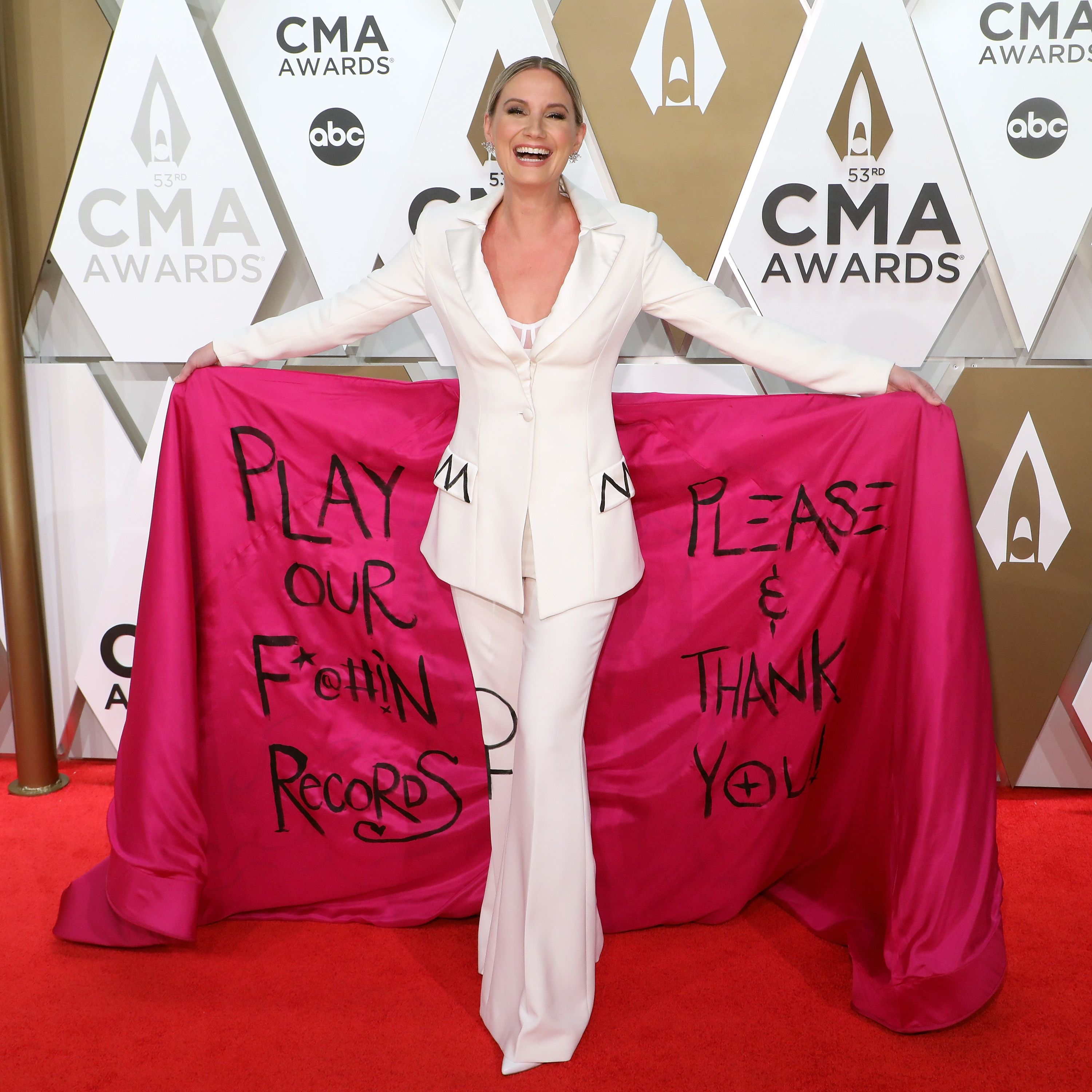 Taylor Swift Presents Gabby Barrett With Breakthrough Video at CMT Music Awards
