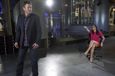 Blake Shelton and Cecily Strong