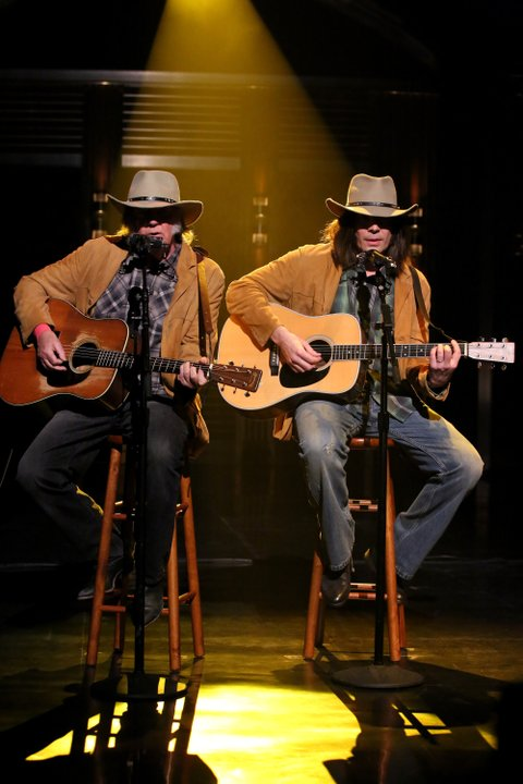 Neil Young and Jimmy Fallon