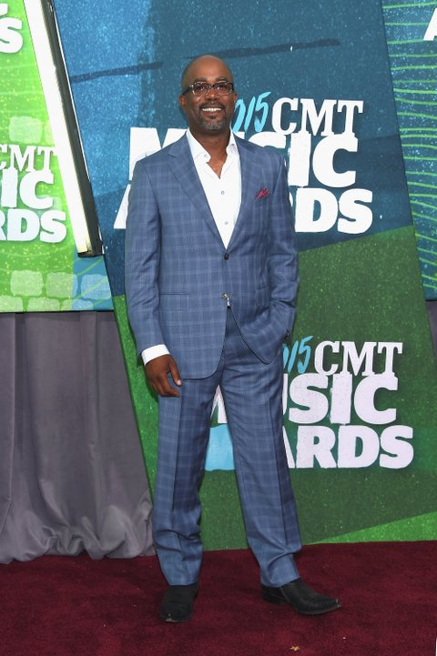 Blue suits are trending on the #CMTAwards red carpet.