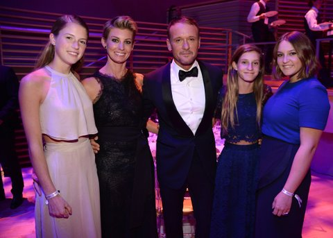 NEW YORK, NY - APRIL 21:  Gracie McGraw, Faith Hill, Tim McGraw, Audrey McGraw and Maggie McGraw attend TIME 100 Gala, TIME's 100 Most Influential People In The World at Jazz at Lincoln Center on April 21, 2015 in New York City.  (Photo by Kevin Mazur/Getty Images for TIME)