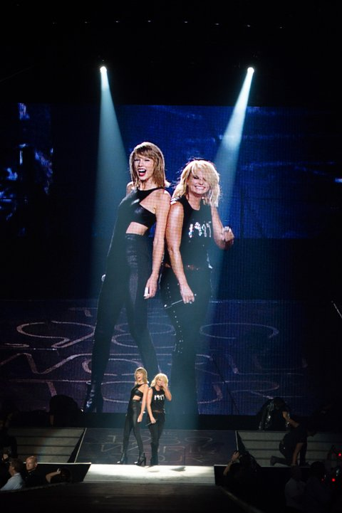 GREENSBORO, NC - OCT 21: Taylor Swift and Miranda Lambert performs at a concert for adoring fans at the Greensboro Coliseum on October 21, 2015 in Greensboro, North Carolina. (Photo by Steve Exum/LP5 Getty Images for TAS)