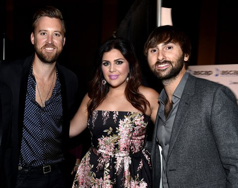 NASHVILLE, TN - NOVEMBER 02: Charles Kelley, Hillary Scott, and Dave Haywood of Lady Antebellum attend the 53rd annual ASCAP Country Music awards at the Omni Hotel on November 2, 2015 in Nashville, Tennessee.  (Photo by John Shearer/Getty Images)