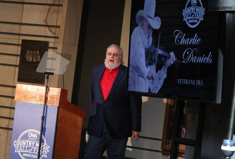 NASHVILLE, TN - MARCH 29:  Country Music Hall of Fame inductee Charlie Daniels during the 2016 Inductee announcement at Country Music Hall of Fame and Museum on March 29, 2016 in Nashville, Tennessee.  (Photo by Terry Wyatt/WireImage)