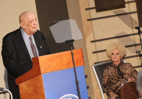 NASHVILLE, TN - MARCH 29:  Country Music Hall of Fame inductee Fred Foster during the 2016 Inductee announcement at Country Music Hall of Fame and Museum on March 29, 2016 in Nashville, Tennessee.  (Photo by Terry Wyatt/WireImage)