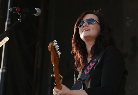 LAS VEGAS, NEVADA - APRIL 01:  Singer Brandy Clark performs onstage at the 4th ACM Party for a Cause Festival at the Las Vegas Festival Grounds on April 1, 2016 in Las Vegas, Nevada.  (Photo by Gabe Ginsberg/WireImage)