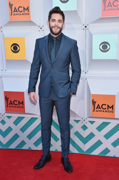 LAS VEGAS, NEVADA - APRIL 03:  Recording artist Thomas Rhett attends the 51st Academy of Country Music Awards at MGM Grand Garden Arena on April 3, 2016 in Las Vegas, Nevada.  (Photo by John Shearer/WireImage)