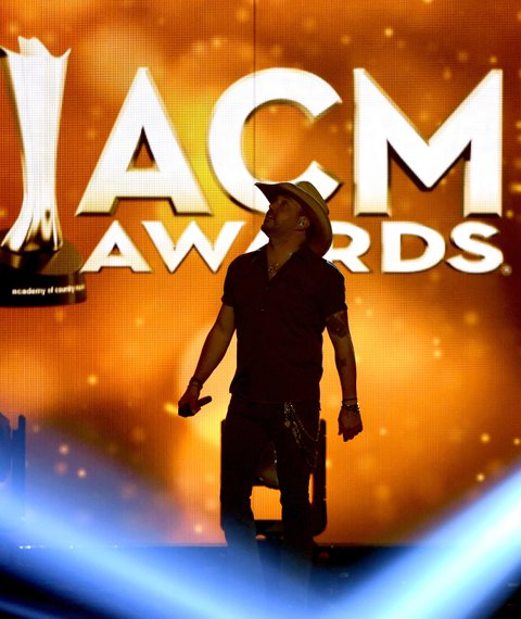 LAS VEGAS, NEVADA - APRIL 03: Recording artist Jason Aldean performs onstage during the 51st Academy of Country Music Awards at MGM Grand Garden Arena on April 3, 2016 in Las Vegas, Nevada.