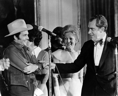 UNSPECIFIED - CIRCA 1970:  Photo of Merle Haggard  Photo by Michael Ochs Archives/Getty Images