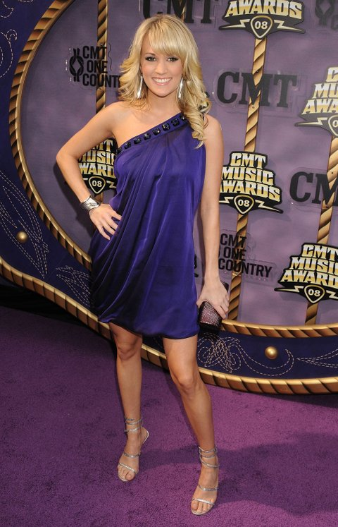 NASHVILLE, TN - APRIL 14:  Carrie Underwood attends the 2008 CMT Music Awards at the Curb Events Center at Belmont University on April 14, 2008 in Nashville, Tennessee.  (Photo by Jeff Kravitz/FilmMagic)