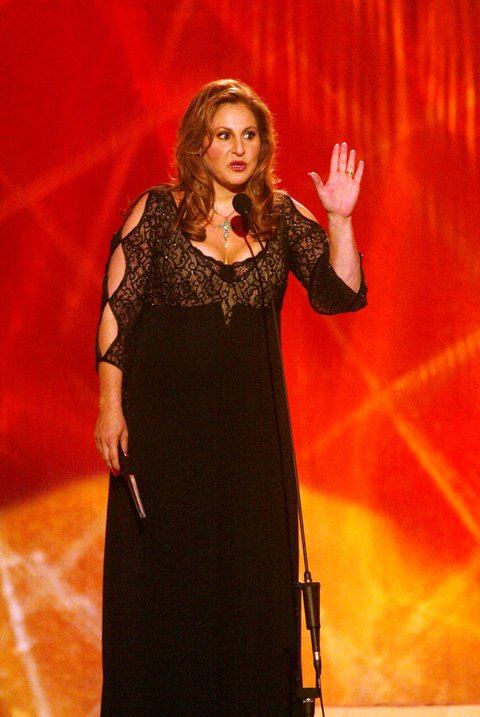 Host Kathy Najimy during the first ever CMT Flameworthy Video Music Awards at the Gaylord Entertainment Center in Nashville, Tennesee.  6/12/02  Photo by Scott Gries/Getty Images