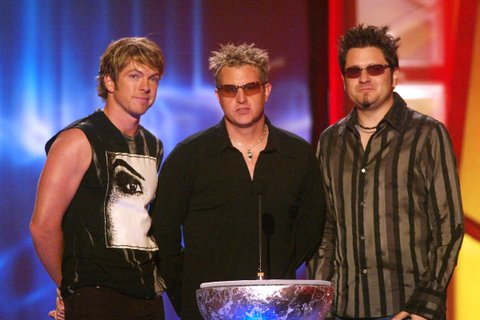 Rascal Flatts during the first ever CMT Flameworthy Video Music Awards at the Gaylord Entertainment Center in Nashville, Tennesee.  6/12/02  Photo by Scott Gries/Getty Images