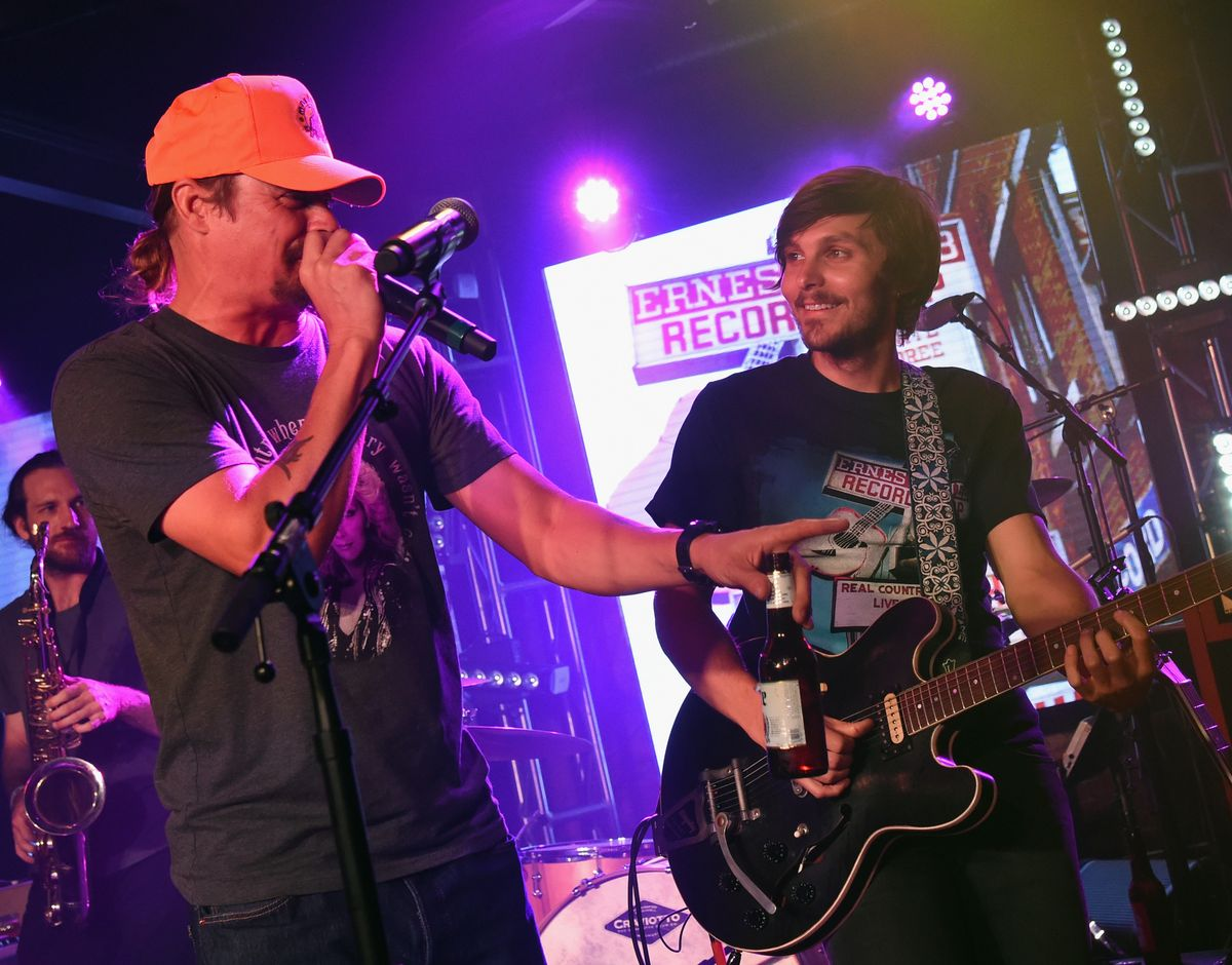 NASHVILLE, TN - JUNE 10:  Kid Rock joins Charlie Worsham during Charlie Worsham's Midnight Jam - Day 3 on June 10, 2016 in Nashville, Tennessee.  (Photo by Rick Diamond/Getty Images,)