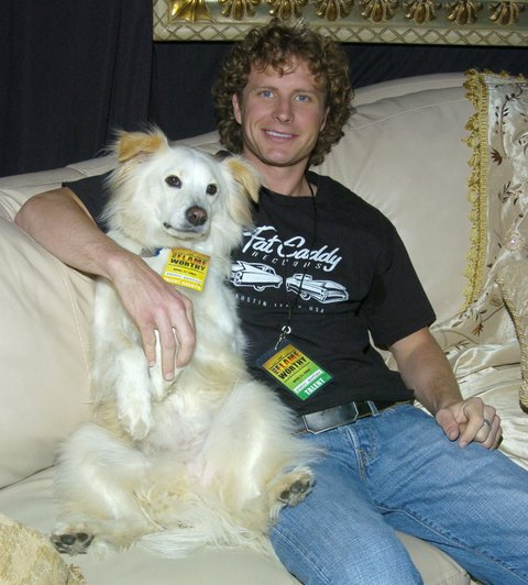 Dierks Bentley and dog Jake at Backstage Creations-Talent Retreat (Photo by Mark Sullivan/WireImage for Backstage Creations)