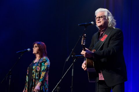 NASHVILLE, TN - AUGUST 16:  Ricky Skaggs (R) performs at Ryman Auditorium on August 16, 2016 in Nashville, Tennessee.  (Photo by Erika Goldring/Getty Images)