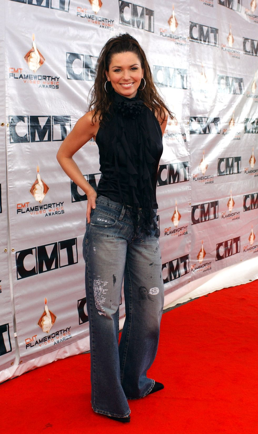 Shania Twain during 2003 CMT Flameworthy Awards - Arrivals at The Gaylord Center in Nashville, Tennessee, United States. (Photo by R. Diamond/WireImage)
