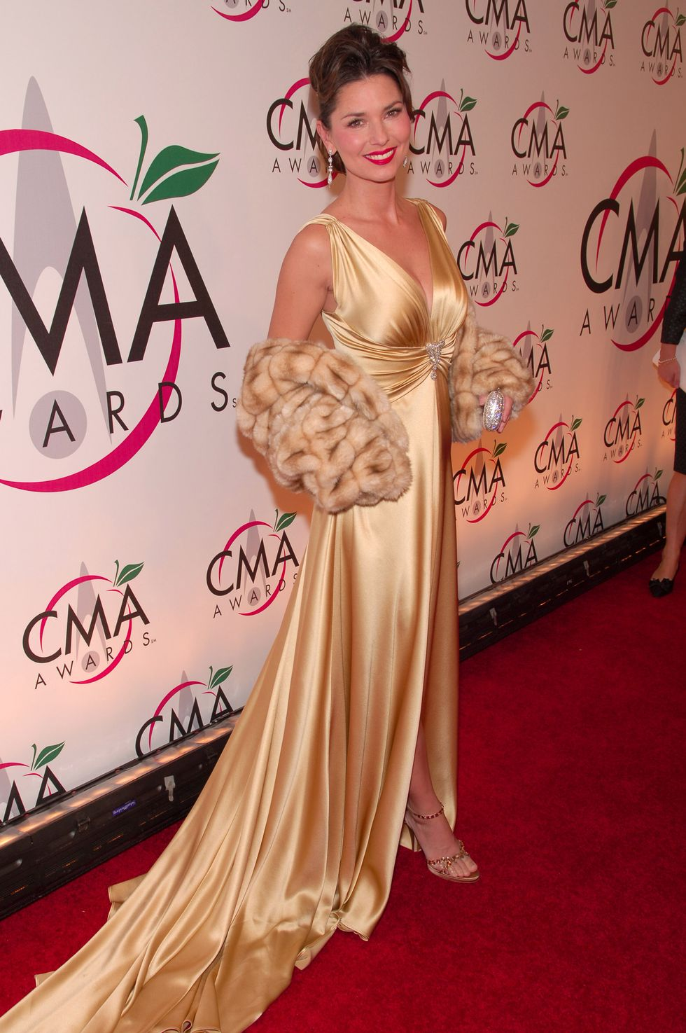 Shania Twain during The 39th Annual CMA Awards - Arrivals at Madison Square Garden in New York City, New York, United States. (Photo by Michael Loccisano/FilmMagic)