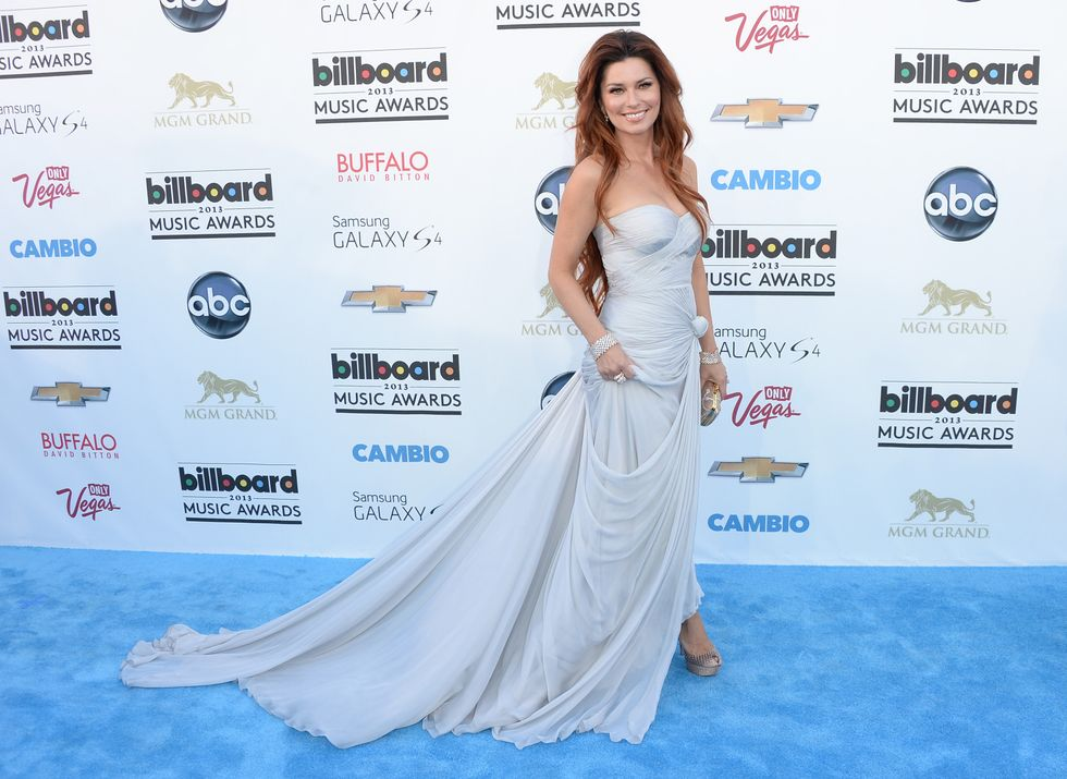 LAS VEGAS, NV - MAY 19:  Singer Shania Twain arrives at the 2013 Billboard Music Awards at the MGM Grand Garden Arena on May 19, 2013 in Las Vegas, Nevada.  (Photo by Jason Merritt/Getty Images)