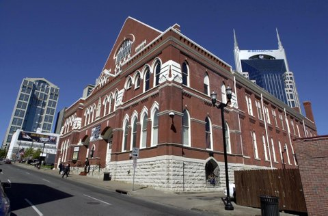 NASHVILLE, :  The Ryman Auditorium in downtown Nashville, Tennessee 13 October, 2000. This is the original Grand Ole Opry House. The new Grand Ole Opry is relocated across town where a celebration will take place this weekend to celebrate the 75th Birthday of the Grand Ole Opry. AFP PHOTO/Neil BRAKE (Photo credit should read NEIL BRAKE/AFP/Getty Images)