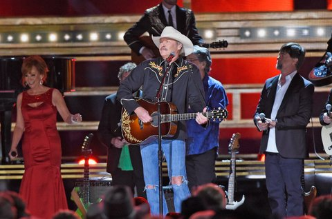 NASHVILLE, TN - NOVEMBER 02: Alan Jackson performs onstage at the 50th annual CMA Awards at the Bridgestone Arena on November 2, 2016 in Nashville, Tennessee.  (Photo by Gustavo Caballero/Getty Images)