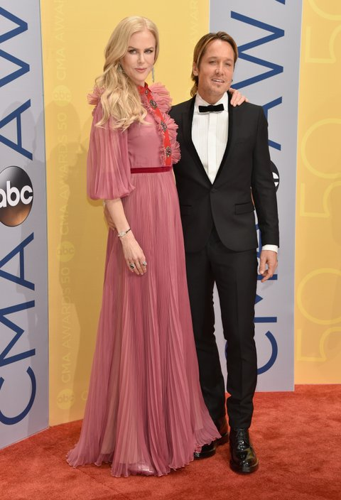 NASHVILLE, TN - NOVEMBER 02:  Actress Nicole Kidman and singer Keith Urban attend the 50th annual CMA Awards at the Bridgestone Arena on November 2, 2016 in Nashville, Tennessee.  (Photo by John Shearer/WireImage)