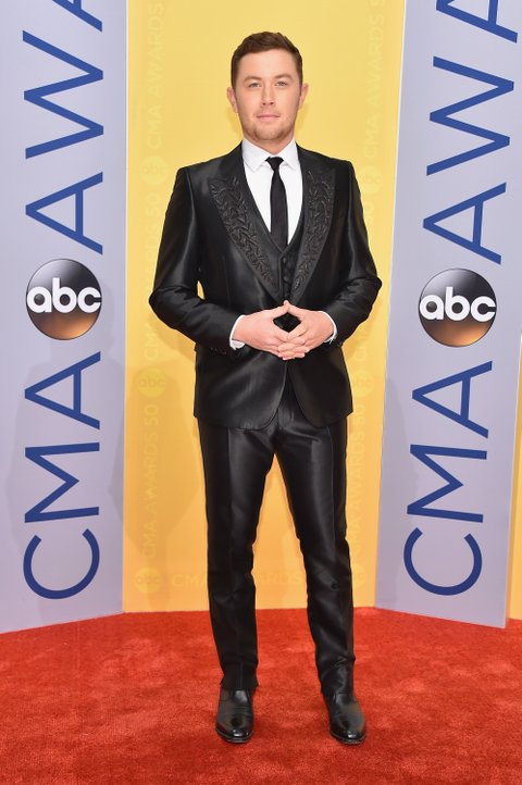 NASHVILLE, TN - NOVEMBER 02:  Singer Scotty McCreery attends the 50th annual CMA Awards at the Bridgestone Arena on November 2, 2016 in Nashville, Tennessee.  (Photo by Michael Loccisano/Getty Images)