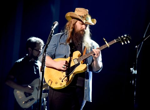 LAS VEGAS, NV - MARCH 31:  Musician Chris Stapleton rehearses onstage during for the 52nd Academy Of Country Music Awards at T-Mobile Arena on March 31, 2017 in Las Vegas, Nevada.  (Photo by Kevin Winter/ACMA2017/Getty Images for ACM)