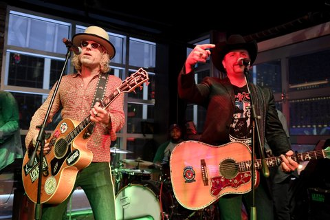 LAS VEGAS, NV - APRIL 01:  Musicians Big Kenny (L) and John Rich of Big and Rich perform onstage at the ACM After Party For A Cause: Redneck Riviera on April 1, 2017 in Las Vegas, Nevada.  (Photo by Matt Winkelmeyer/Getty Images for ACM)