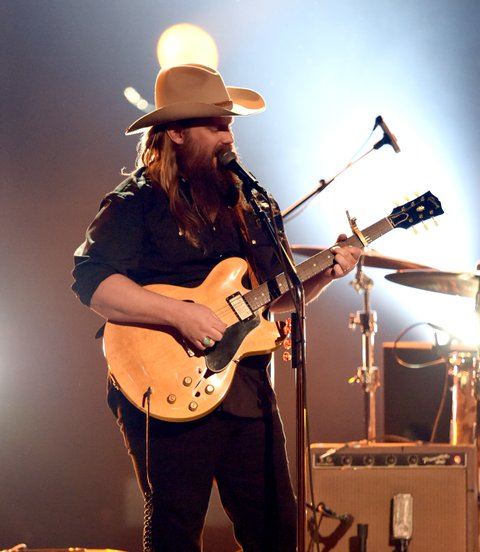 LAS VEGAS, NV - APRIL 02:  Recording artist Chris Stapleton performs onstage during the 52nd Academy Of Country Music Awards at T-Mobile Arena on April 2, 2017 in Las Vegas, Nevada.  (Photo by Ethan Miller/Getty Images)