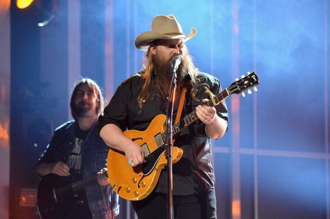 LAS VEGAS, NV - APRIL 02:  Music artist Chris Stapleton onstage at the 52nd Academy Of Country Music Awards at T-Mobile Arena on April 2, 2017 in Las Vegas, Nevada.  (Photo by Jeff Kravitz/ACMA2017/FilmMagic for ACM)