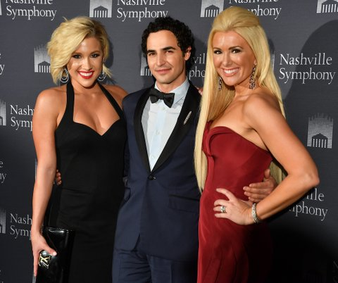 NASHVILLE, TN - APRIL 18:  (L-R) Television Personality Savannah Crisley, fashion designer Zac Posen and fashion show host Allison DeMarcus arrive at Schermerhorn Symphony Center on April 18, 2017 in Nashville, Tennessee.  (Photo by Jason Davis/Getty Images)