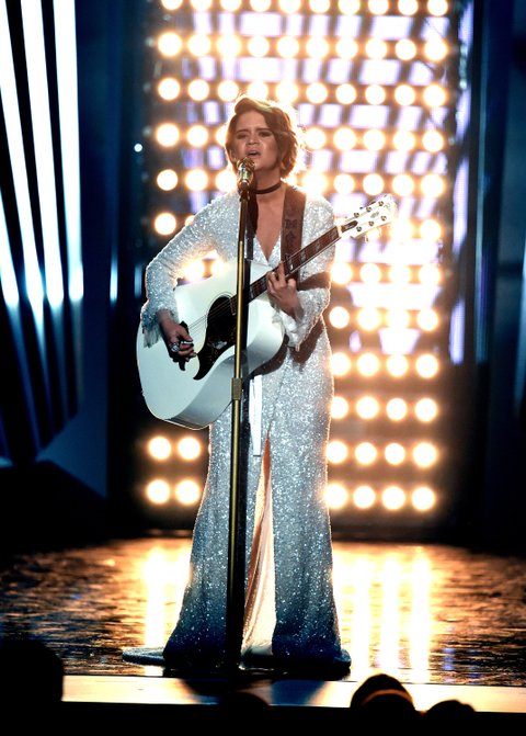 LAS VEGAS, NV - APRIL 02:  Recording artist Maren Morris performs onstage during the 52nd Academy Of Country Music Awards at T-Mobile Arena on April 2, 2017 in Las Vegas, Nevada.  (Photo by Ethan Miller/Getty Images)