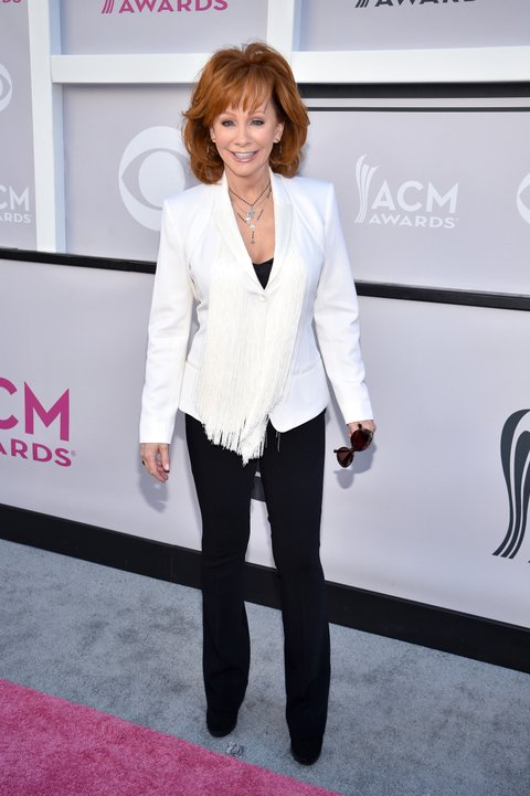 LAS VEGAS, NV - APRIL 02:  Recording artist Reba McEntire attends the 52nd Academy Of Country Music Awards at Toshiba Plaza on April 2, 2017 in Las Vegas, Nevada.  (Photo by Kevin Mazur/ACMA2017/Getty Images for ACM)