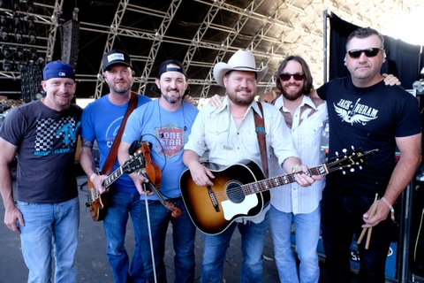 INDIO, CA - APRIL 28:  (L-R) Musicians Todd Stewart, Geoffrey Hill, Brady Black, Randy Rogers, Jon Richardson, and Les Lawless of Randy Rogers Band on the Palomino Stage during day 1 of 2017 Stagecoach California's Country Music Festival at the Empire Polo Club on April 28, 2017 in Indio, California.  (Photo by Frazer Harrison/Getty Images for Stagecoach)