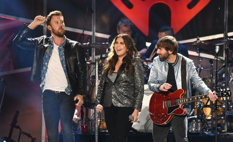 AUSTIN, TX - MAY 06:  Singers Charles Kelley, Hillary Scott, and Dave Haywood of Lady Antebellum perform onstage during the 2017 iHeartCountry Festival, A Music Experience by AT&T at The Frank Erwin Center on May 6, 2017 in Austin, Texas.  (Photo by C Flanigan/Getty Images)