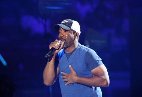 AUSTIN, TX - MAY 06:  Darius Rucker performs onstage during the 2017 iHeartCountry Festival held at The Frank Erwin Center on May 6, 2017 in Austin, Texas.  (Photo by Michael Tran/FilmMagic)