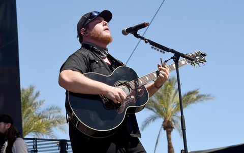 INDIO, CA - APRIL 30:  Musician Luke Combs performs on the Toyota Mane Stage during day 3 of 2017 Stagecoach California's Country Music Festival at the Empire Polo Club on April 30, 2017 in Indio, California.  (Photo by Kevin Winter/Getty Images for Stagecoach) *** Local Caption *** Luke Combs