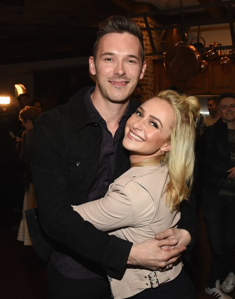 NASHVILLE, TN - MARCH 16:  Nashville cast members Sam Palladio and Hayden Panettiere attend NASHVILLE 100th Episode Celebration on March 16, 2017 in Nashville, Tennessee.  (Photo by Rick Diamond/Getty Images for CMT)