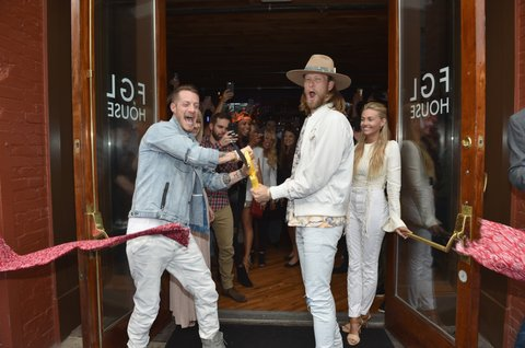 NASHVILLE, TN - JUNE 05:  (L-R)  Musicican Tyler Hubbard of Florida Georgia Line, Hayley Hubbard Hubbard, musician Brian Kelley of Florida Georgia Line and Brittney Kelley celebrate Florida Georgia Line's grand opening of FGL House on June 5, 2017 in Nashville, Tennessee.  (Photo by John Shearer/Getty Images for Florida Georgia Line)
