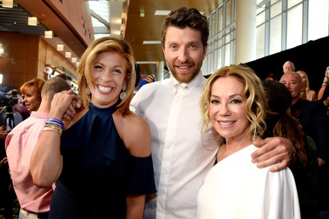 NASHVILLE, TN - JUNE 07: Hoda Kotb, Brett Eldredge, and Kathie Lee Gifford attend the 2017 CMT Music Awards at the Music City Center on June 7, 2017 in Nashville, Tennessee.  (Photo by Kevin Mazur/WireImage)