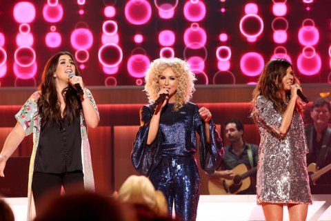 NASHVILLE, TN - AUGUST 23:  Hillary Scott, Kimberly Schlapman, and Karen Fairchild perform onstage during the 11th Annual ACM Honors at the Ryman Auditorium on August 23, 2017 in Nashville, Tennessee.  (Photo by Terry Wyatt/Getty Images for ACM)