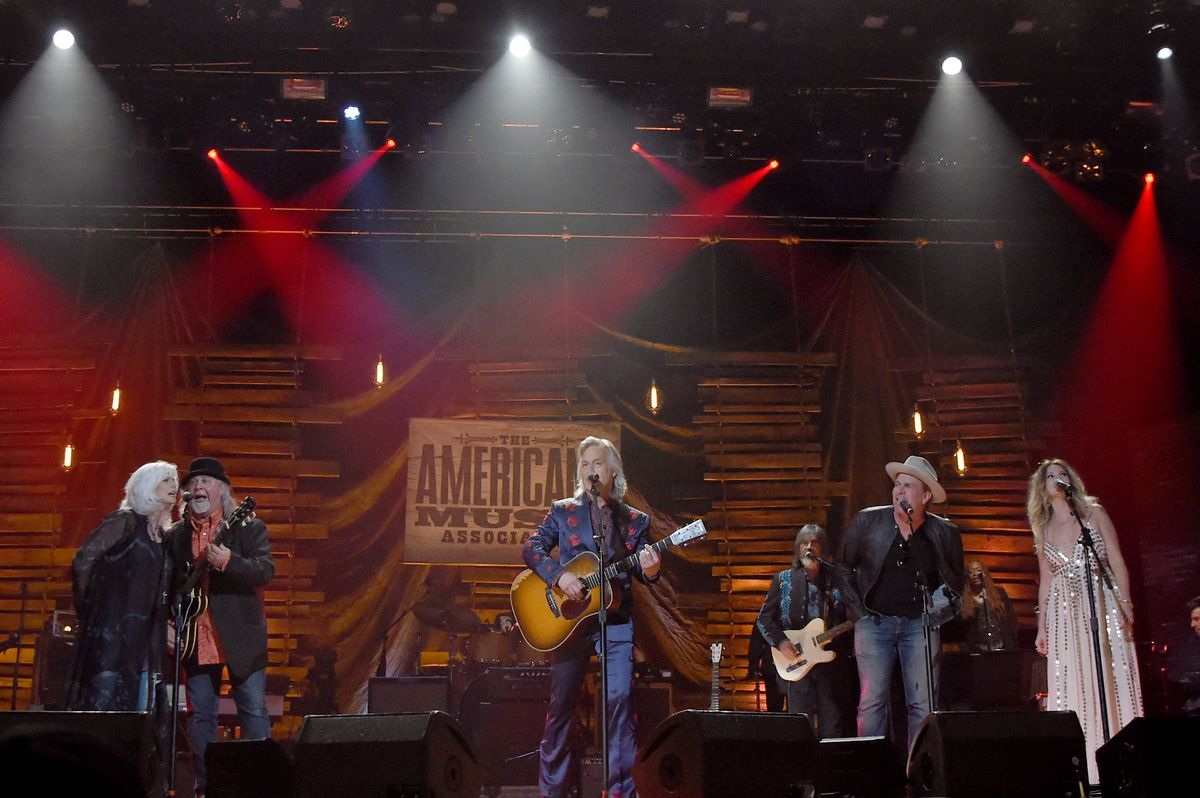 NASHVILLE, TN - SEPTEMBER 13:  Musical artists perform onstage for the finale during the 2017 Americana Music Association Honors & Awards  on September 13, 2017 in Nashville, Tennessee.  (Photo by Rick Diamond/Getty Images for Americana Music)