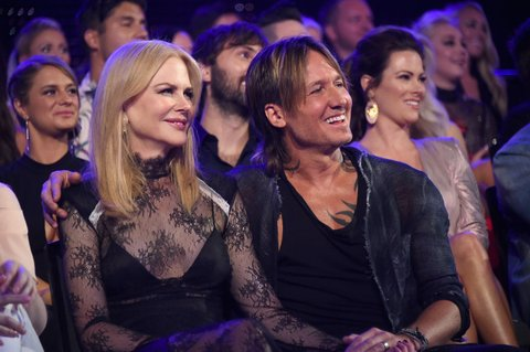 NASHVILLE, TN - JUNE 07: Actress Nicole Kidman and musician Keith Urban attend the 2017 CMT Music Awards at the Music City Center on June 6, 2017 in Nashville, Tennessee.  (Photo by Mike Coppola/Getty Images for CMT)